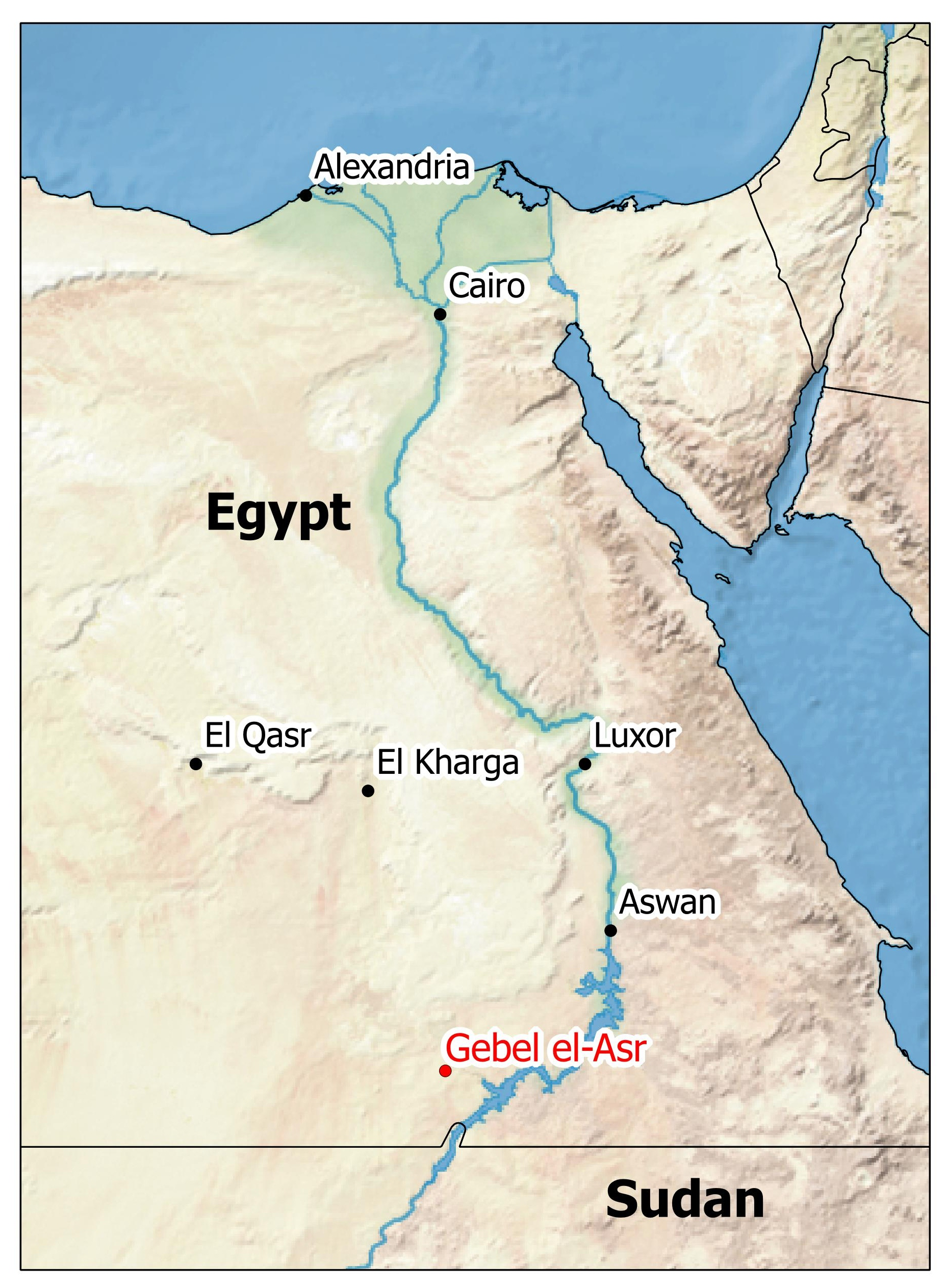 lake nasser africa map Gebel El Asr Quarries Discovery And Excavation Archaeology And lake nasser africa map