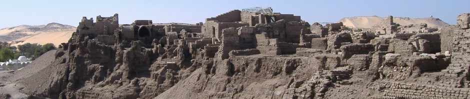 Image of the archaeological deposits of the ancient city of Elephantine